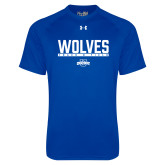 Under Armour Royal Tech Tee-Track and Field in Bar