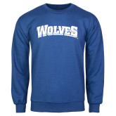 Royal Fleece Crew-Wolves