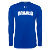 Under Armour Royal Long Sleeve Tech Tee-Wolves
