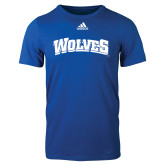 Adidas Royal Logo T Shirt-Wolves