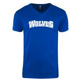 Next Level V Neck Royal T Shirt-Wolves