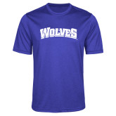 Performance Royal Heather Contender Tee-Wolves