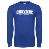 Royal Long Sleeve T Shirt-Cheyney University