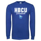 Royal Long Sleeve T Shirt-HBCU Graduate
