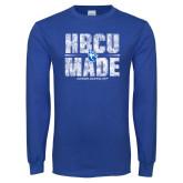 Royal Long Sleeve T Shirt-HBCU Made