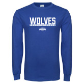 Royal Long Sleeve T Shirt-Track and Field in Bar