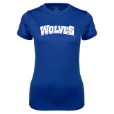 Ladies Syntrel Performance Royal Tee-Wolves