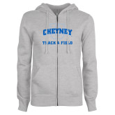 ENZA Ladies Grey Fleece Full Zip Hoodie-Track and Field