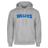 Grey Fleece Hoodie-Wolves