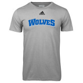 Adidas Climalite Sport Grey Ultimate Performance Tee-Wolves