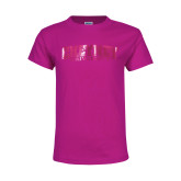 Youth Cyber Pink T Shirt-Cheyney University  Foil