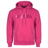 Fuchsia Fleece Hoodie-Cheyney University  Foil