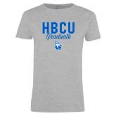 Ladies Grey T Shirt-HBCU Graduate