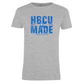 Ladies Grey T Shirt-HBCU Made