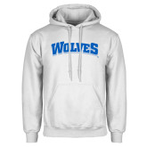 White Fleece Hoodie-Wolves