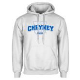 White Fleece Hoodie-Cheyney U Wolves
