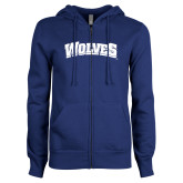 ENZA Ladies Royal Fleece Full Zip Hoodie-Wolves