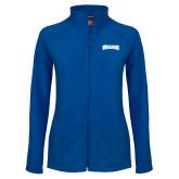 Ladies Fleece Full Zip Royal Jacket-Wolves