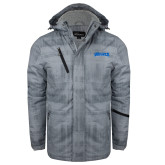 Grey Brushstroke Print Insulated Jacket-Wolves