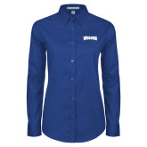Ladies Royal Twill Button Down Long Sleeve-Wolves