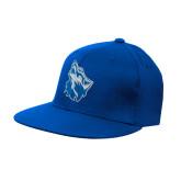 Royal OttoFlex Flat Bill Pro Style Hat-Wolf Head