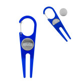 Blue Aluminum Divot Tool/Ball Marker-Primary Mark  Engraved