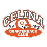 Large Decal-Celina Quarterback Club,  12 inches wide