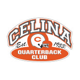 Small Decal-Celina Quarterback Club, 6 inches wide