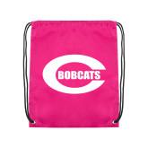 Pink Drawstring Backpack-C - Bobcats