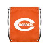 Orange Drawstring Backpack-C - Bobcats
