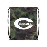 Camo Drawstring Backpack-C - Bobcats