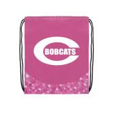 Nylon Pink Bubble Patterned Drawstring Backpack-C - Bobcats