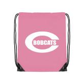 Light Pink Drawstring Backpack-C - Bobcats