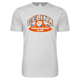 Next Level SoftStyle White T Shirt-Celina Quarterback Club