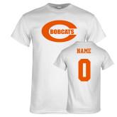 White T Shirt-C - Bobcats, Custom tee w/ name and #