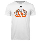 Adidas Climalite White Ultimate Performance Tee-Celina Quarterback Club