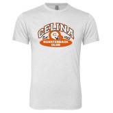 Next Level Heather White Tri Blend Crew-Celina Quarterback Club