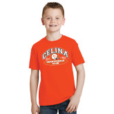 Youth Orange T Shirt-Celina Quarterback Club