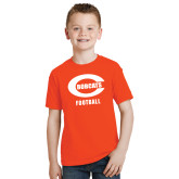 Youth Orange T Shirt-Football