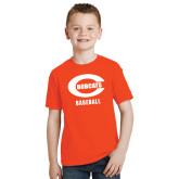 Youth Orange T Shirt-Baseball