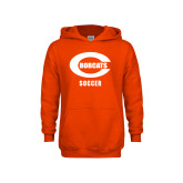 Youth Orange Fleece Hoodie-Soccer
