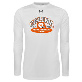 Under Armour White Long Sleeve Tech Tee-Celina Quarterback Club