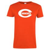 Ladies Orange T Shirt-C - Bobcats