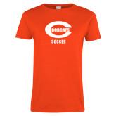 Ladies Orange T Shirt-Soccer