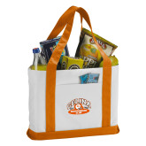 Contender White/Orange Canvas Tote-Celina Quarterback Club