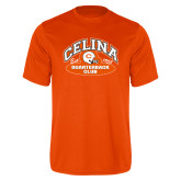Performance Orange Tee-Celina Quarterback Club