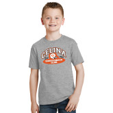 Youth Grey T Shirt-Celina Quarterback Club