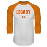 White/Orange Raglan Baseball T Shirt-#UNIFIED