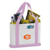 Contender White/Pink Canvas Tote-C - Bobcats