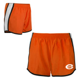 Ladies Orange/White Team Short-C - Bobcats
